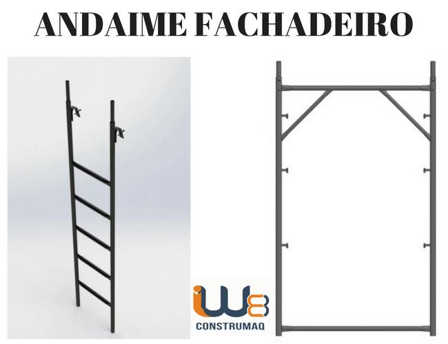 Andaime Fachadeiro Escada